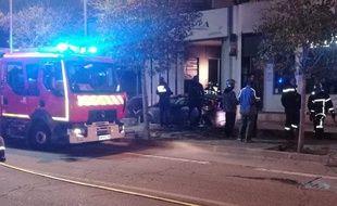 Les sapeurs-pompiers sont intervenus jeudi soir sur l'incendie d'une pizzeria.