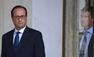 François Hollande et Manuel Valls le 27 août 2014 à l'Elysée.