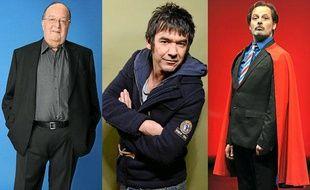 Les humoristes Bernard Mabille, Thomas VDB et Christophe Alêvèque.