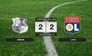 Ligue 1, 5ème journée: Match nul entre Amiens et l'OL (2-2)