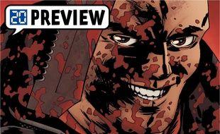 Negan ensanglanté dessiné par Charlie Adlard