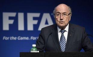 Sepp Blatter à la Fifa le 2 juin 2015.