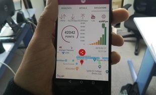 Une fois le test fini, l'application attribue une note globale de la couverture mobile.