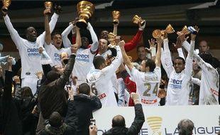 Les Marseillais remportent la Coupe de la Ligue face à Bordeaux, le 27 mars 2010