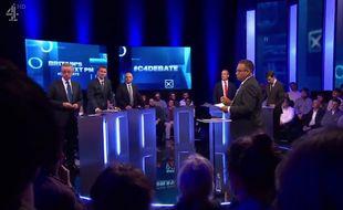 Les prétendants à la succession de Theresa May lors d'un débat sur Channel 4.