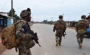 Soldats français de l'opération Sangaris le 24 avril 2014 à Bangui