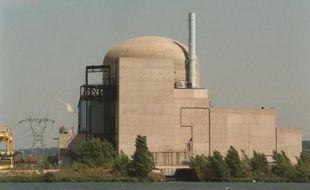 La centrale nucléaire de Saint-Alban (Isère), le 28 août 1992