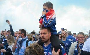 Les supporters strasbourgeois ont débarqué en nombre pour la finale de la coupe de la Ligue