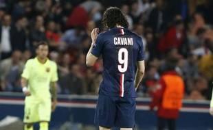 Edinson Cavani face à Barcelone, le 15 avril 2015