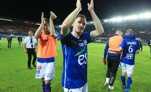 Dimitri Liénard et le Racing club de Strasbourg peuvent monter en Ligue 2 à Belfort, ce vendredi, à condition de ne pas perdre.