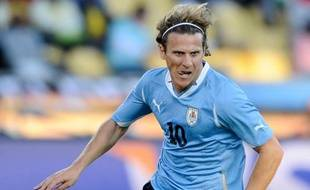 L'Uruguyen Diego Forlan face au Mexique, le 22 juin 2010