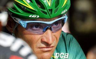 Le coureur cycliste français Thomas Voeckler, lors du Tour de France, le 21 juillet 2013