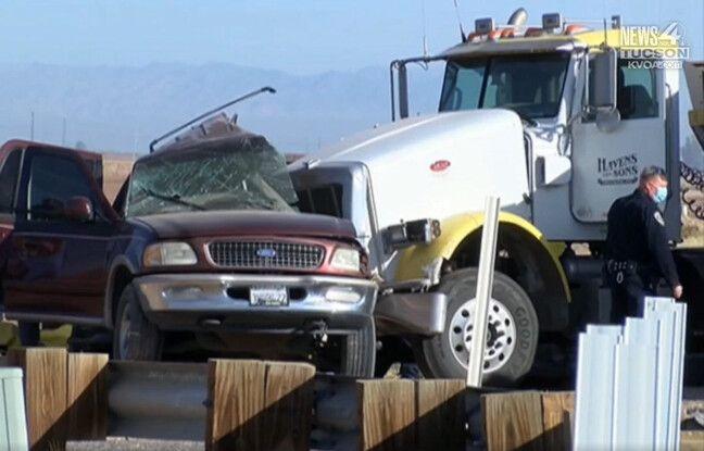 648x415 collision entre suv semi remorque fait moins 15 morts californie 2 mars 2021