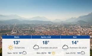 Météo Grenoble: Prévisions du vendredi 18 octobre 2019