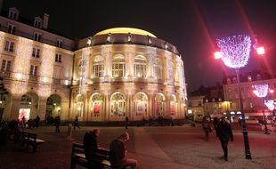 L'opéra de Rennes, ici décoré lors des illuminations de Noël en 2016.