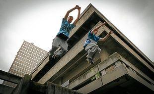 Joris et Loïc s'entraînent régulièrement dans le quartier de la Part-Dieu.