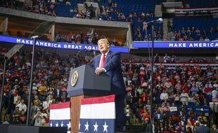 Le président américain Donald Trump en campagne à Tulsa le 20 juin 2020.