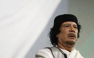 L'ex-leader libyen, Mouammar Kadhafi, à Rome, le 30 août 2010.
