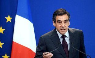 Le Premier ministre François Fillon lors de son point d'étape sur la réforme des retraites le 24 juin 2010 à Matignon.