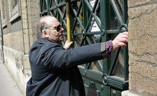 Henri Leclaire sur une photo prise lors du procès de Patrick Dils à Lyon, en 2002