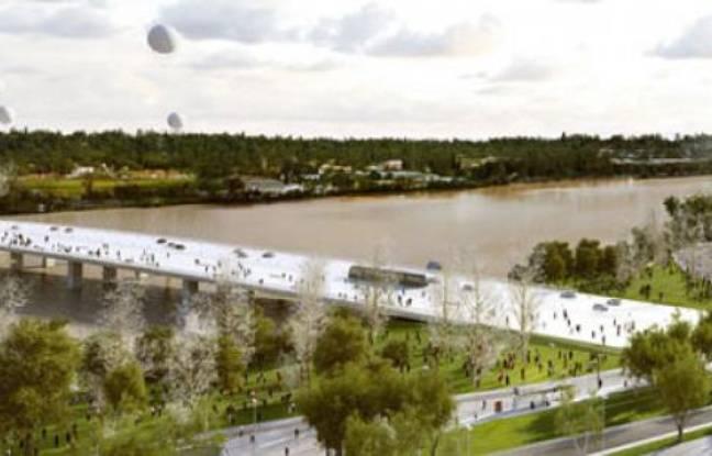 Le projetpour le pont Simone-Veil à Bordeaux, par l'agence OMA