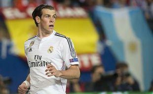 Gareth Bale lors du match entre le Real Madrid et l'Atlético Madrid le 14 avril 2015.