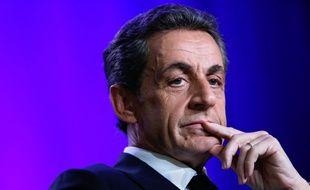 Nicolas Sarkozy, ancien Président et désormais patron de l'UMP le 24 mars 2015 à Asnières-sur-Seine.