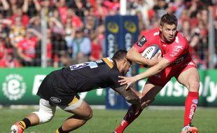 Toulon a battu les London Wasp en quart de finale de la coupe d'Europe de rugby, le 5 avril 2015.