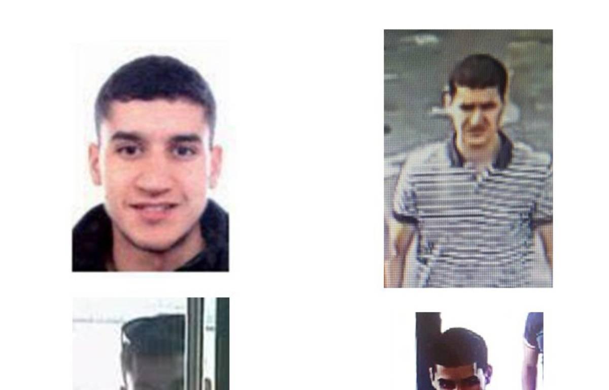 Les Mossos ont dévoilé sur Twitter des photos de Younès Abouyaaqoub, suspect numéro 1 des attentats de Catalogne, recherché par les polices européennes. – AFP