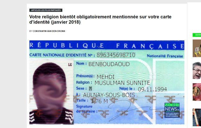 Non La Religion Ne Sera Pas Bientot Marquee Sur Votre Carte D Identite
