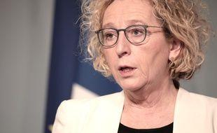 La ministre du Travail, Muriel Pénicaud, à Paris le 1er avril 2020.