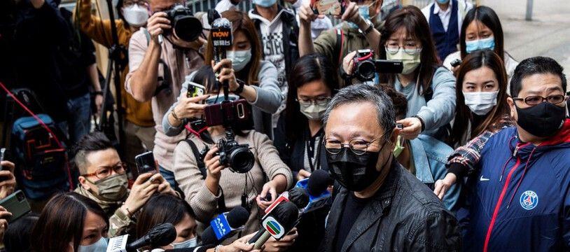 Le militant pro-démocratie Benny Tai inculpé pour subversion, le 27 février 2021 à Hong Kong.