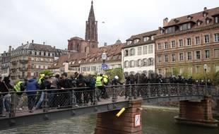 Gilets jaunes à Strasbourg le 27 avril 2019.