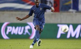 Le milieu de terrain français Alou Diarra, le 28 mai 28 mai 2012 contre la Serbie, àValenciennes.