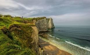 Une falaise en Normandie (illustration).