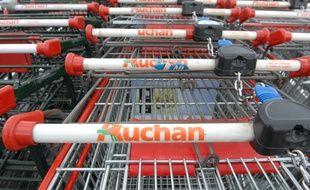 Caddies de l'Auchan d'Illkirch-Graffenstaden. (Illustration)