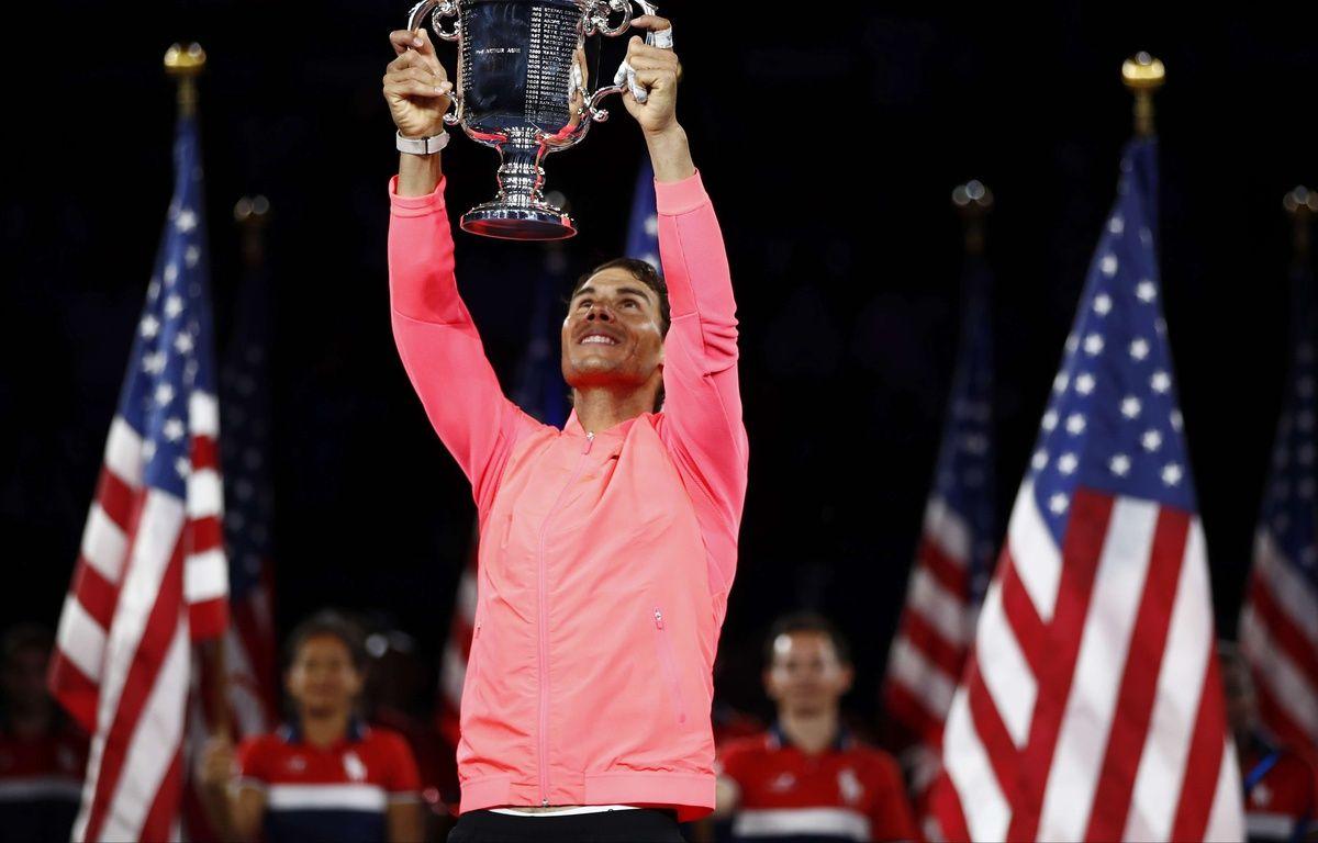 Rafael Nadal après sa victoire en finale de l'US Open, le 10 septembre 2017. – Julio Cortez/AP/SIPA