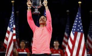 Rafael Nadal après sa victoire en finale de l'US Open, le 10 septembre 2017.