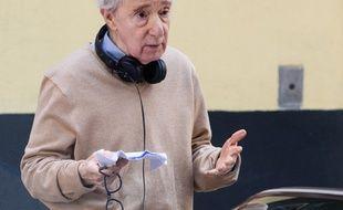 Le réalisateur Woody Allen sur le tournage de A Rainy Day in New York
