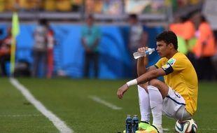 Thiago Silva lors de la séance des tirs au but face au Chili, le 28 juin 2014.