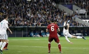 Gareth Bale a marqué un magnifique retourné en finale de Ligue des champions contre Liverpool, le 26 mai 2018.