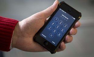 Illustration: un iPhone protégé par un code PIN.