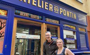 Hervé Trotta et Cléanne Vannier, les menuisiers de l'atelier Pontin à Nice
