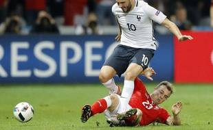 André-Pierre Gignac en action contre la Suisse
