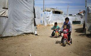 Enfants dans un camp de réfugiés en Syrie (Illustration).