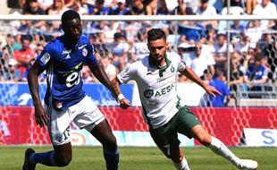 Cabella au stade de la Meinau avec Saint-Etienne.
