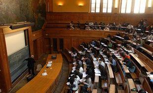 Un amphithéâtre de la Sorbonne, en 2007.
