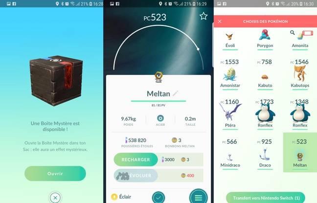 Meltan, un Pokémon bonus fabuleux à récupérer une fois l'application Pokémon Go connectée.