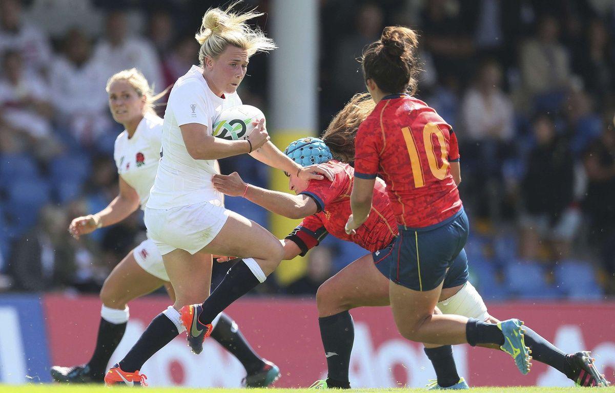 Match entre l'Angleterre et l'Espagne à la coupe du monde de rugby féminin en Irlande (2017) – Brian Lawless/AP/SIPA