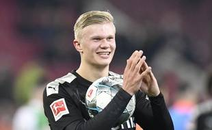 Erling Haaland a inscrit un triplé express lors de son premier match avec le Borussia Dortmund, le 18 janvier 2020.